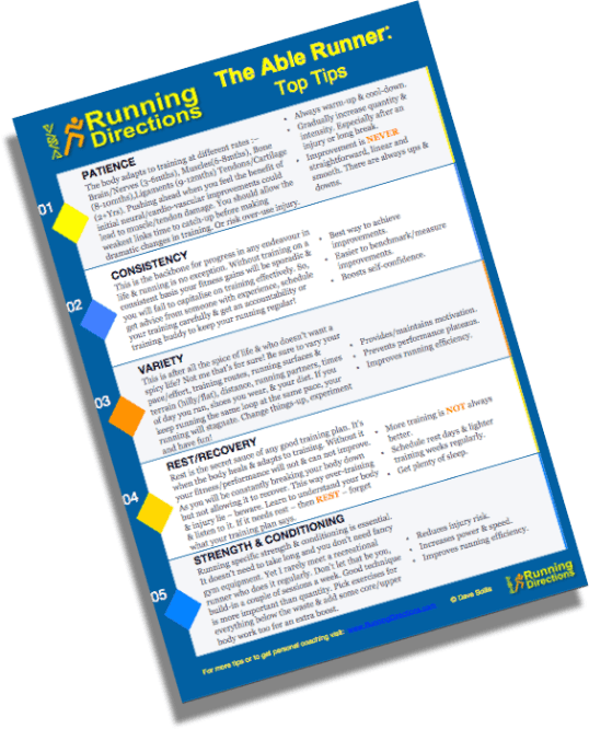 Running Directions Able Runner Tip Sheet